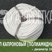 Фал капроновый (полиамидный) плетёный, диаметр 10 мм, бухта 100 м фото