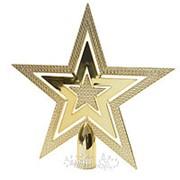 """Верхушка """"Звезда"""", 20 см, золото (Kaemingk) фото"""