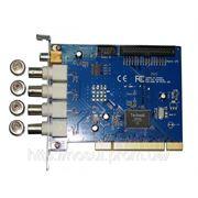 BV-6104B 4CH 4х канал video 1 CH video ou PCI плата видеонаблюдения 50-60 к/сек Techwell 6805А фото
