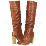 Женские кожаные сапоги Viscala фото
