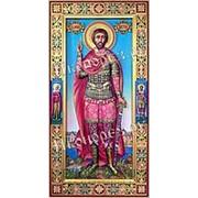 Резные иконы Виктор, святой мученик, ростовая мерная икона, резьба по дереву Высота иконы 38 см фото