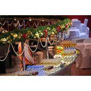 Новогоднее оформление Новый год Рождество офисов кафе ресторанов домов магазинов витрин флористика купить заказать цена доступная фото Киев Украина фото