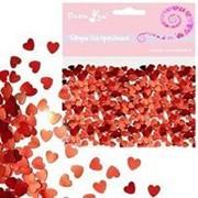 Конфетти фольгированное Сердца красные 14гр фото