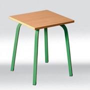 Табуретка обычная на ножках зеленого цвета купить, Табуретка (310х310х440 мм), Код: 0229 фото
