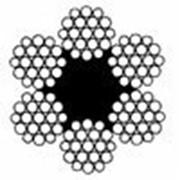 Канат стальной двойной свивки типа ЛК-Р ГОСТ 2688-80 DIN 3059 фото