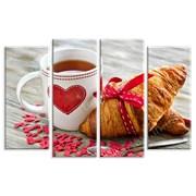 Картина Круасан с чаем фото