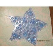 Звезда ОРТО полуцвет синяя. Миниковрики в ванную фото