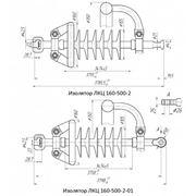 Линейный полимерный стержневой кремнийорганический изолятор ЛКЦ 160-500-2 фото