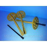 10х140mm дюбель крепления теплоизоляции с ударопрочным пластиковым гвоздём (TERMODUBEL),диск d 70mm (UTD 140 PN) фото