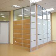 Перегородки стеклянные офисные из алюминиевого профиля системы Ирлайн фото