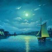 """Картина маслом """"Лунная ночь в Венеции"""" фото"""