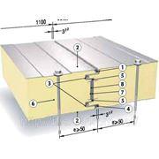 Сендвич-Панель SPB PU (Isotherm SC) для стен, 60 мм, наполнение пенополиуретан фото