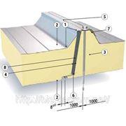 Сендвич-панель Ruukki SPC PU (Isotherm D) для крыши, 100/60 мм, наполнение пенополиуретан фото