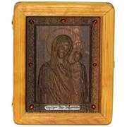 Подарочная икона Казанская икона Божией Матери на мореном дубе фото