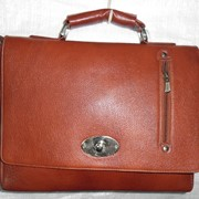 Портфель кожаный для ноутбука А3 фото