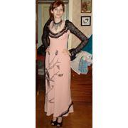 платье с росписью по ткани фото