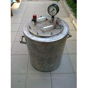 Автоклавы из пищевой нержавейки полу промышленный на 40 литровых банок фото