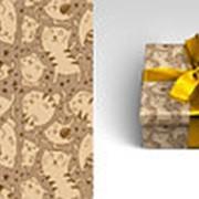 "Упаковочная бумага Миленд ""Котики ""Краф"", 10 листов, 70 х 100 см., 90 г/м2, 10-05-0053 фото"