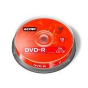 Диск DVD-R ACME 4.7Gb 16x Cake box 10шт (858219/418421) фото
