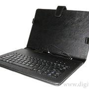 Чехол с клавиатурой 7 дюймов для планшетного компьютера черный фото
