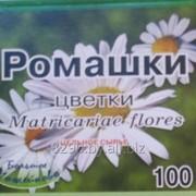 Цветки ромашки цельное расфасованное сырье в пачке картонной 50г. или 100г. фото