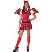Карнавальный костюм летучая мышь для девушки на хэллоуин - Detention Devil фото
