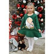 Детское платье с аппликацией в расцветках. МО-10-1218 фото
