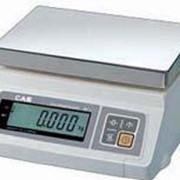 Настольные весы CAS SW (платформа из пластика, без дисплея покупателя) фото