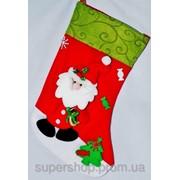 Новогодний носок Игрушечный Дед Мороз 218-215778 фото