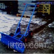 Отвал для снега ручной 4К 4 колеса фото
