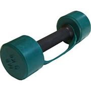 Гантель обрезиненная с обрезиненной ручкой 3 кг, цветная MB-FitC-3 фото