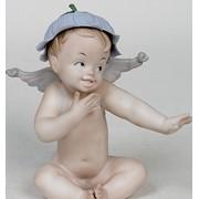"""Фарфоровая статуэтка """"Ангелочек"""" 136 фото"""