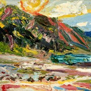 Картина, Газеев Николай, «Озеро, горы, Солнце» фото
