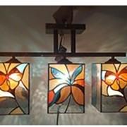 Люстра потолочная трехрожковая (Abstract butterfly) фото