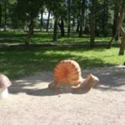 Парковая скульптура Улитка с грибами фото