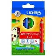 Карандаши цветные 3 в 1 LYRA GROOVE TRIPLE ONE, 6 цв. (FILA) фото