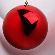 Елочный шар 150 мм, пластик фото