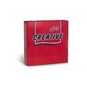 Салфетки бумажные Aster Creative 25х25см, 3-слойные, красные, с тиснением, 20штук фото