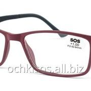 Очки для чтения SOS унисекс модель P 15159 Mat Red- Black фото