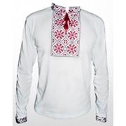 Вышитая футболка гладью Снежинка М-616-7 фото