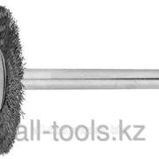 Щетка Зубр радиальная, нержавеющая сталь, на шпильке, d 20x 3,2мм, L 42мм, 1шт Код:35931 фото