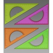 Треугольник с транспортиром, 30*, 16 см (СТАММ) фото