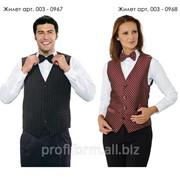 Униформа для работников отелей (жилет женский), арт. 003-0968 фото