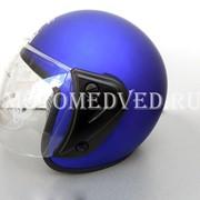 Шлем Jiekai, синий открытый, прозрачное стекло, размер S 55-56, Китай фото