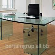 Стол офисный стеклянный фото