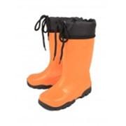 Детские резиновые сапожки с утеплителем СВ-41ум - обувь из ПВХ фото