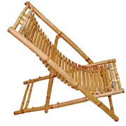 Шезлонг из бамбука (135*60*H76) 56903 фото