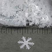 Фетровые заготовки-снежинки белые 5см 500 шт 570210 фото