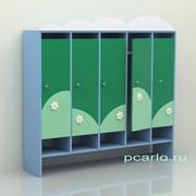Шкаф для раздевалки пятисекционный Облако фанера МД-07.02-Ф фото
