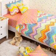 Детское постельное белье zigzag orange фото